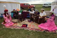 Local-ladies-carding-the-woollen-flees-by-hand