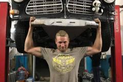 Russian-Mechanic-holding-the-Volvo