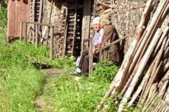 Belarusian couple watching the time trial in Minsk, Belorus