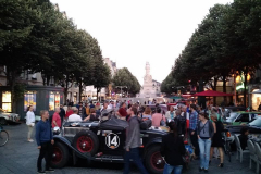 Cars parked in Reims on the evening of Saturday, 16 July