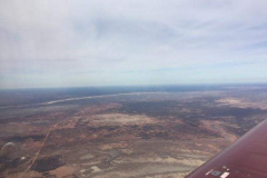 Approaching the western side of Lake Mungo from the air