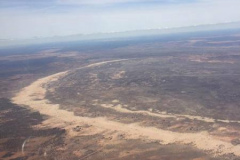 Flying south-east along the backbone of the Walls of China, Lake Mungo