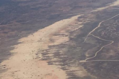 Lake edge and sand dunes, along the Walls of China, Lake Mungo