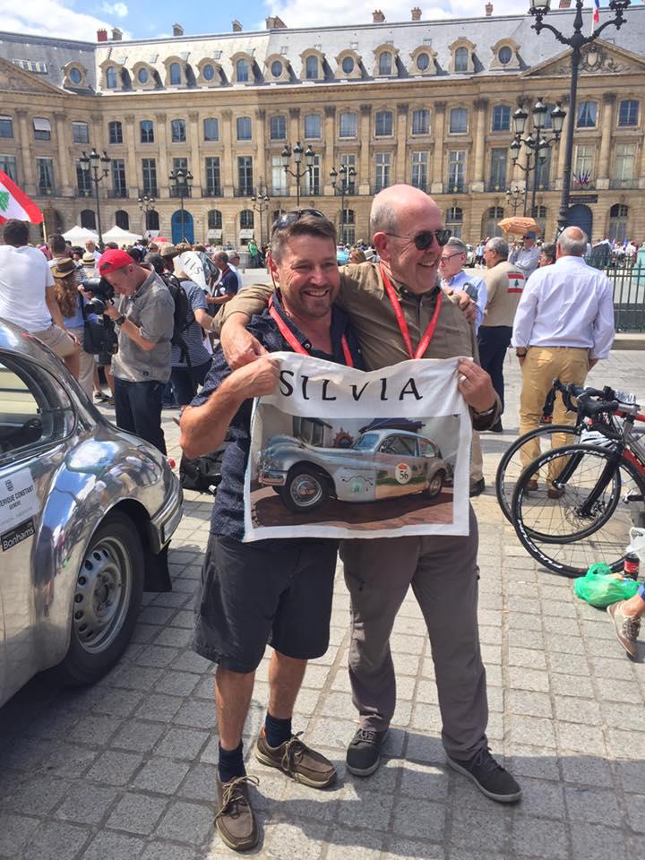 Vivre Le Bristol - Bas and Paul at the finish line in Place Vendome, Paris - Congratulations!