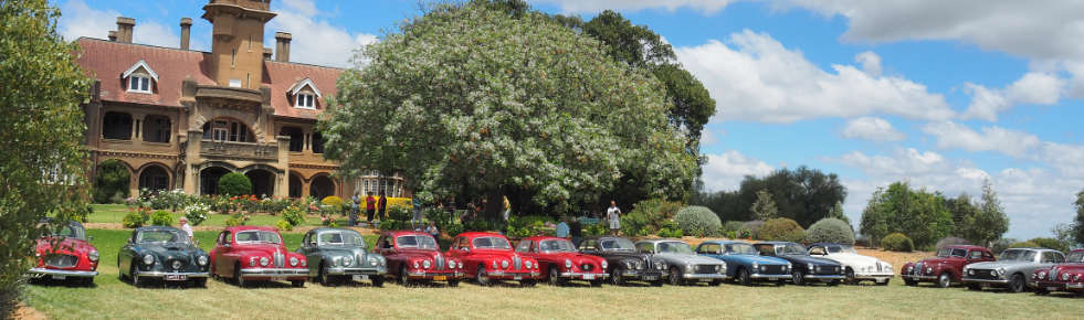 Bristol cars on display at Iandra Castle, near Greenthorpe, NSW