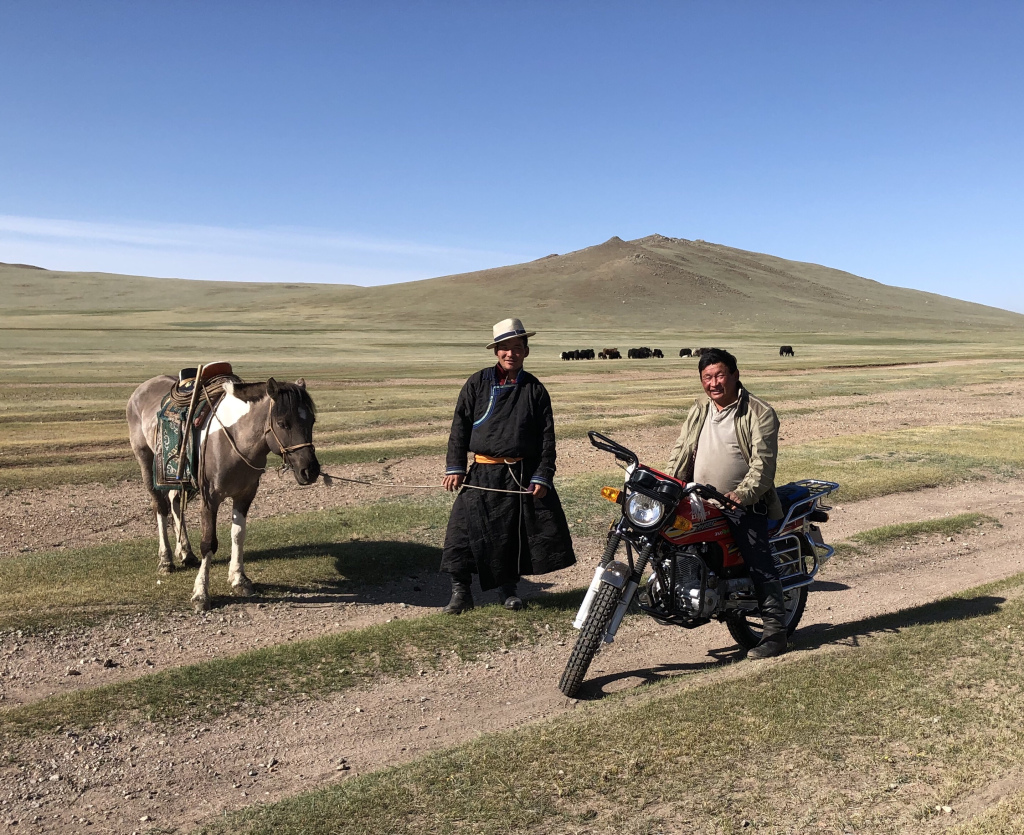 Locals in Mongolia
