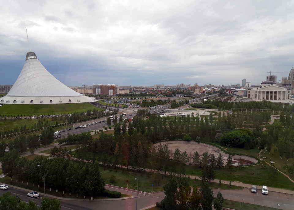 View of Astana from the Hotel